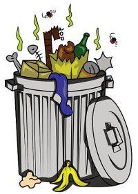 vector illustration of trash can